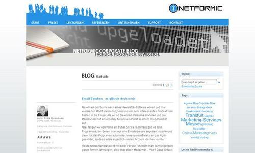 Wir bloggen - im neuen Corporate Blog der Internet-Agentur NETFORMIC