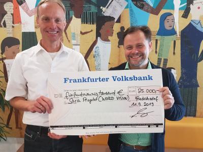 Musiker Arne Kopfermann spendet an World Vision