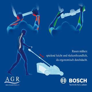 Ergonomisch Rasenmähen: Spielend leicht mit einem AGR-zertifiziertem Rasenmäher!/ Bild: AGR
