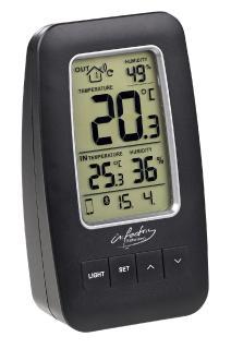 NC 5836 3 infactory Thermometer Hygrometer Datenlogger mit Aussensensor und App Unterstützung