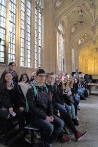 Beeindruckend war die Divinity School in Oxford, erbaut Mitte des 15. Jahrhunderts: Dort sind sogar ein paar Szenen von Harry Potter gedreht worden. Foto: Jugendbildungswerk