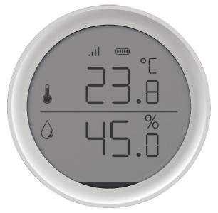 Luminea Home Control WLAN-Temperatur- & Luftfeuchtigkeits-Sensor mit App, 15-Tage-Speicher