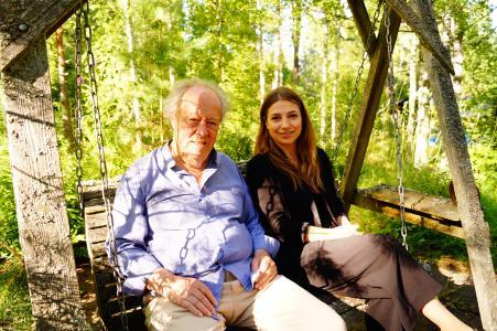 Dirigentin Dalia Stasevska und ihr ehemaliger Lehrer Jorma Panula (c Ulrike Neubecker)