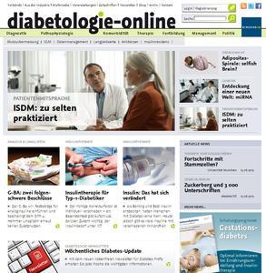 Screenshot diabetologie-online.de