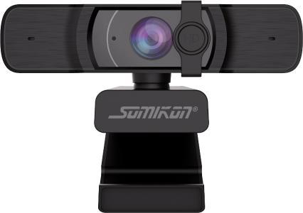 Somikon Full-HD-USB-Webcam mit Autofokus und Dual-Stereo-Mikrofon, 60 B./Sek.
