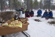 Wildnisrestaurant im Schnee (c) Klaus-Peter Kappest, fintouring