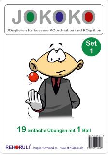 JOKOKO Set 1 - 19 einfache Übungen mit 1 Ball