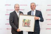 Preisträger des Medienpreises Dr. Marko Reschke mit Laudator Thomas Strobl