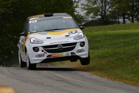 Französische Rallye Meisterschaft: Yoann Bonato feierte seinen vierten Saisonsieg und fuhr mit seinem ADAM souverän den Titel in der R2-Kategorie ein, © GM Company