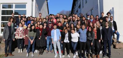 Gute Laune und Vorfreude auf das kommende Auslandssemester bei 62 internationalen Studierenden, die ein oder zwei Semester an der Hochschule Worms studieren werden / Foto/Dorothea Hoppe-Dörwald