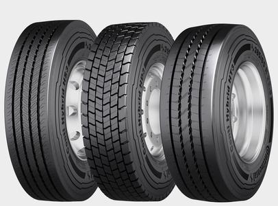 Die speziell für die kombinierte Nutzung auf Regional- und Fernstraßen entwickelte Reifenfamilie Conti Hybrid mit bis zu 20% mehr Laufleistung und 6% Kraftstoffersparnis.