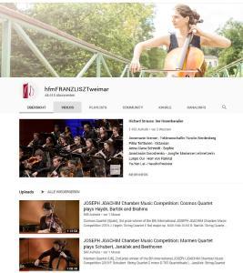 YouTube HfM Weimar