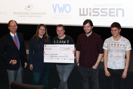 Auch der zweite Platz geht an Medieninformatik-Studierende der Hochschule Osnabrück