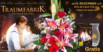 """Blumenstrauß Majestic mit Vase & der DVD """"Traumfabrik"""" für nur 29,99€"""