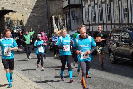 Das Team des Sanitätshauses Werner & Habermalz ging beim Stadtlauf Goslar mit gutem Beispiel voran
