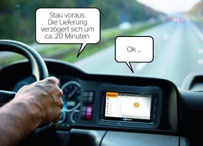 Mit VoicR erhalten Fahrer ortsbezogene Informationen… Foto: © Continental