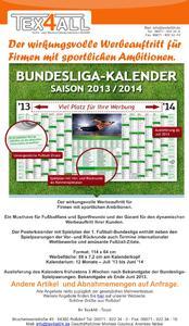 Presse News Bundesligakalender