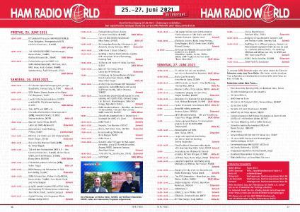 HAM RADIO Sendeplan