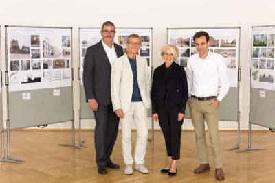 v.l.n.r.: Ulrich Schmidt-Kuhl, Prof. Michael Schumacher, Prof. Christine Nickl-Weller, Philipp Auer / Foto: © Wolfgang Galow