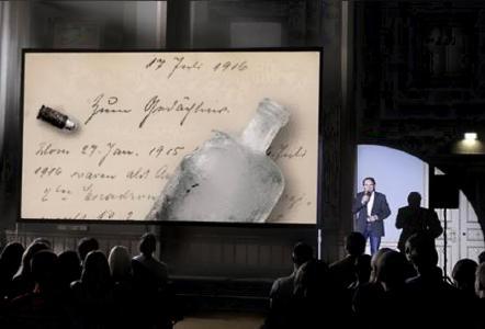 Ingo Espenschied beim Vortrag / Foto: Dokulive.eu