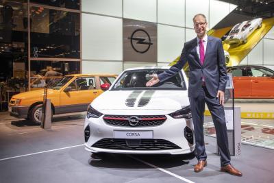 2019 IAA Frankfurt Michael Lohscheller Opel Corsa 508706 / Opel Automobile GmbH