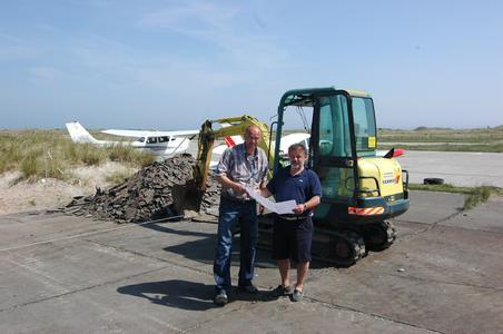 OLT baut Hangar auf Helgoland