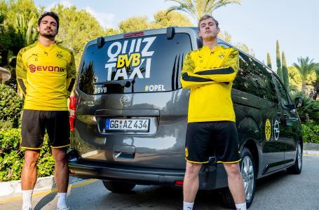 Neue Staffel der Kultserie: Das BVB-Quiztaxi von Opel rollt wieder