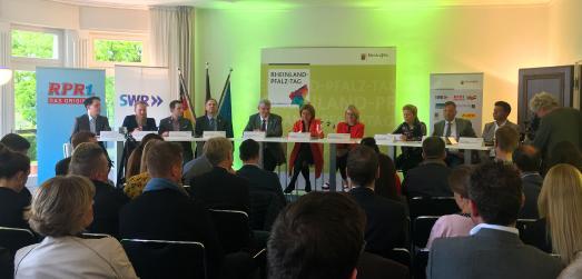 Pressekonferenz zum Rheinland-Pfalz-Tag 2019 in Annweiler / Bildnachweis: RPR1.
