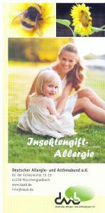 Infoblatt Insektengift-Allergie