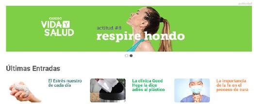 """Gesundheitsportal """"Quiero Vida y Salud""""  © Screenshot: Jens Mohr/APD"""