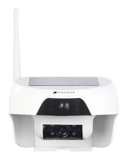 NX-4377 VisorTech HD-IP-Kamera mit Akku & Solar-Panel, Bewegungssensor, Nachtsicht, IP55