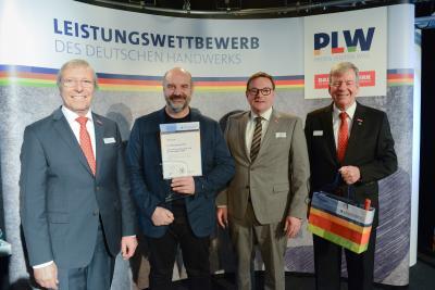 v.l.n.r.: Präsident Alois Jöst, Otto Förster, die Vizepräsidenten Klaus Hofmann und Martin Sättele
