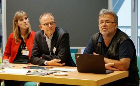 Dr. Verena Hammes, Dr. Reinhardt Schink, Ekkehart Vetter (v.l.)