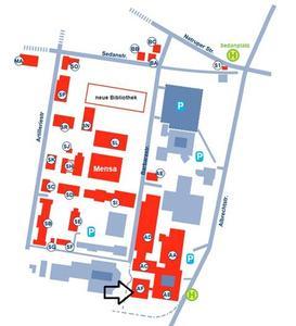 Lageplan: Hochschule Osnabrück, Standort Westerberg, AF-Gebäude, 49076 Osnabrück