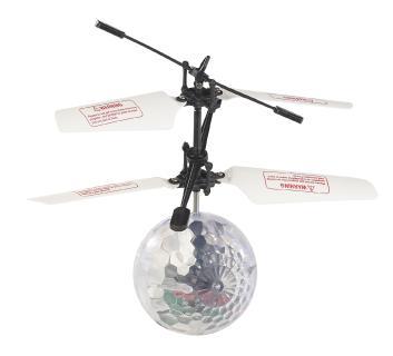 Simulus Selbstfliegender Hubschrauber-Ball mit bunter LED-Beleuchtung