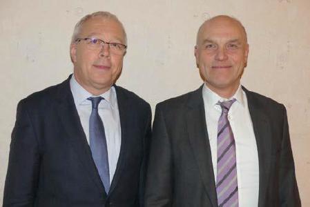 Werner Dullinger und Johannes Naether (v.l.) / © Foto: Holger Teubert/APD