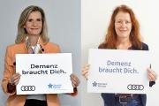 Ute Röding, Audi AG und Sabine Jansen, DAlzG, freuen sich über die gelungene Kooperation