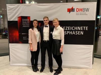Von links nach rechts: Nadja Zehrlaut (BWL - International Business), Simon Wittmann  (Maschinenbau), Irina Baiz (BWL - Medien- und Kommunikationswirtschaft)
