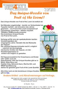 Das Unique-Hoodie von Fruit of the Loom!!