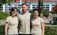 Der neue Vorstand der Studierendeninitiative Green-up your College, v.l.: Carina Schneider, Marius Schmidt, Anais Cakir / Foto: Hochschule Worms