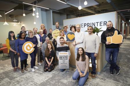 """diedruckerei.de wurde vom Handelsblatt erneut als """"Bester Online-Händler"""" ausgezeichnet. Die Auszeichnung hat das Unternehmen unter anderem seinem guten Kundenservice zu verdanken / Bild: Onlineprinters GmbH"""
