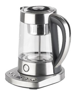 Rosenstein & Söhne Automatischer Wasserkocher & Teebereiter WSK-450.steam, Dampf-Funktion & 6 Programme