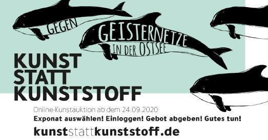 """Flyer der Online-Auktion """"KUNST STATT KUNSTSTOFF"""""""