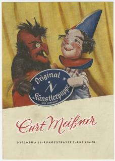 Heft Curt Meißner 1954, Stadtmuseum Dresden