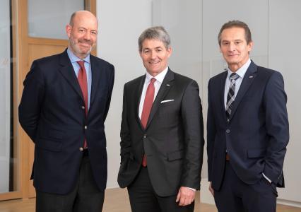 Dr. Moritz Finkelnburg, Prof. Edgar Bohn und Raimund Herrmann (v.l.n.r.)