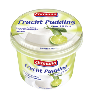 Genuss in XXL: Ehrmann Frucht Pudding im 750 g-Becher