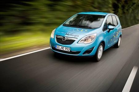 Die Elektrofahrzeuge von Opel (im Bild der Meriva MeRegio) stehen in den kommenden Tagen bei der Challenge Bibendum im Mittelpunkt.