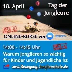Warum Bewegung & Jonglieren für Kinder & Jugendliche so wichtig ist - So 18.4.21 - 14 Uhr