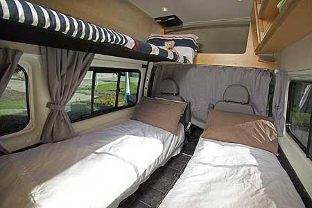 Pacific Horizon Neuseeland 2-Bett Camper (Innenraum)