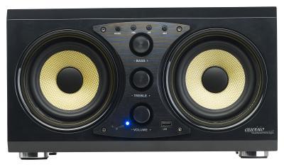 auvisio 2.0-Soundsystem MSX-400 im Holzgehäuse, Bluetooth 3.0, Musik-Player, 60 Watt